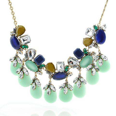 Chic Diamante Colored Shell Pendant Necklace For Women
