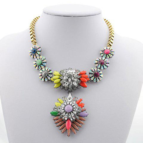Chic Colored Heronsbill Pendant Alloy Necklace For Women