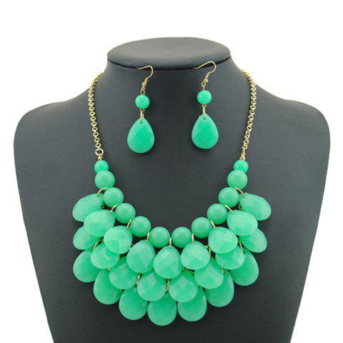 Sweet Candy Color Multilayered Beaded Necklace and Earrings - COLOR ASSORTED