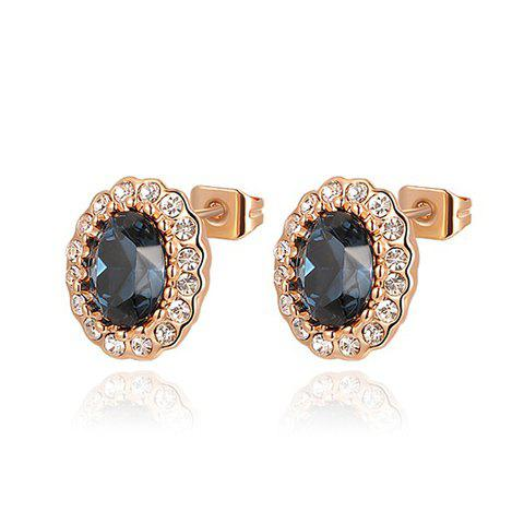 Pair of Gorgeous Diamante Gray Blue Faux Crystal Earrings For Women - AS THE PICTURE