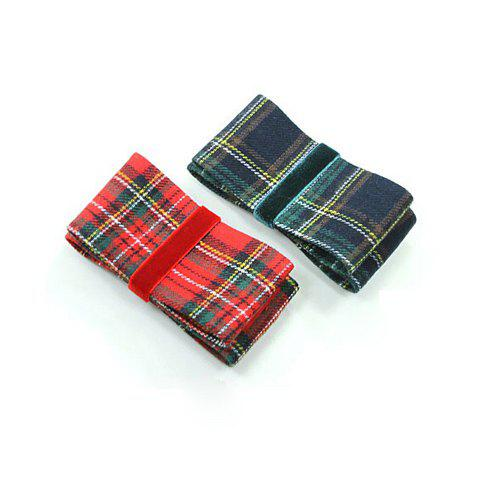 Chic Plaid Bowknot Embellished Hairpin For Women - COLOR ASSORTED