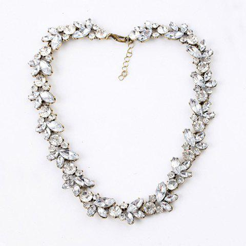 Retro Chic Faux Crystal Embellished Alloy Necklace For Women - AS THE PICTURE