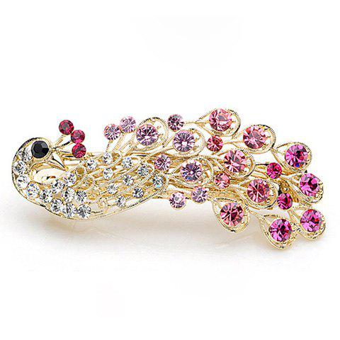 Exquisite and Attractive Rhinestone Embellished Peacock Shape Hairpin - COLOR ASSORTED