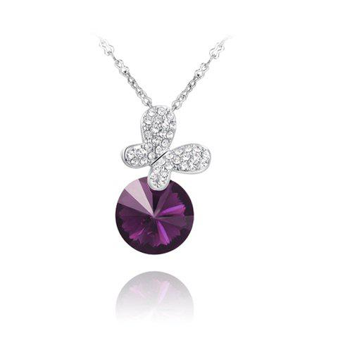 Hot Sale Crystal Design Butterfly Shape Pendant Necklace For Women - AS THE PICTURE