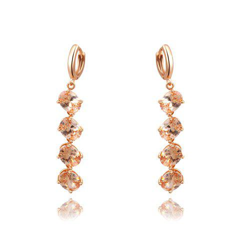 Pair of Faux Crystal Long Earrings - AS THE PICTURE