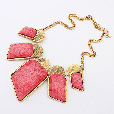 Chic Colored Figured Pendant Alloy Necklace For Women