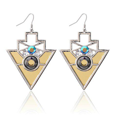 Pair of Vintage Geometric Pendant Earrings - COLOR ASSORTED