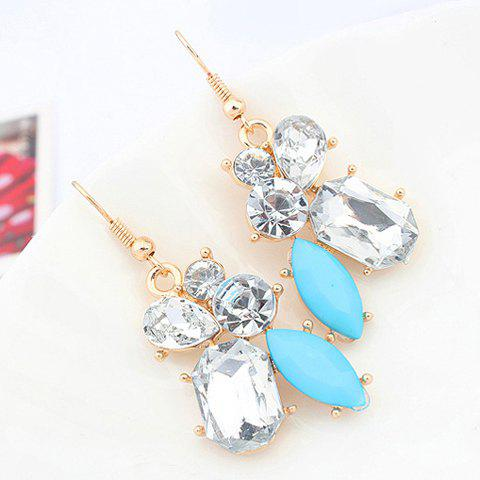 Pair of Chic Style Faux Gem Drop Earrings For Women