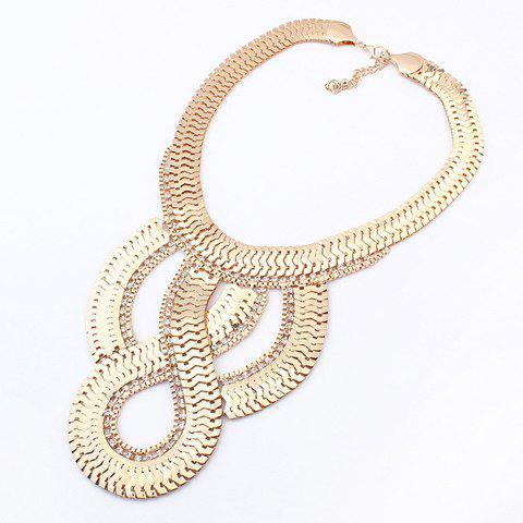 Simple Geometric Pendant Golden Alloy Necklace For WomenJewelry<br><br><br>Color: GOLD