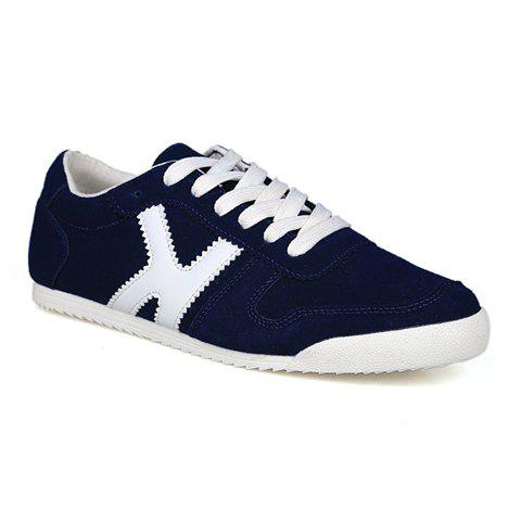 Outdoor Splicing and Round Toe Design Casual Shoes For Men - BLUE 41