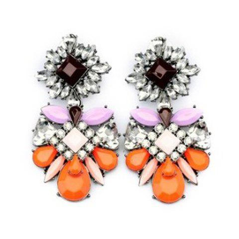 Pair of Gorgeous Polychrome Earrings For Women