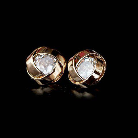 Pair of Chic Rhinestone Earrings For Women - AS THE PICTURE