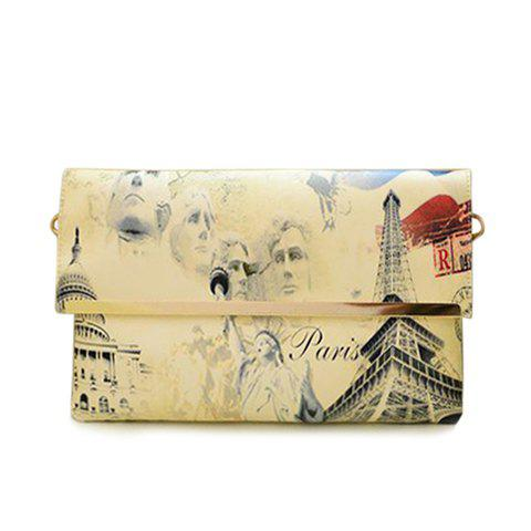 Fashion Print and Envelope Design Clutch For Women - AS THE PICTURE