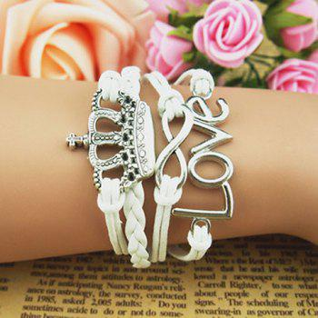 Crown Love Infinity Multilayer Bracelet