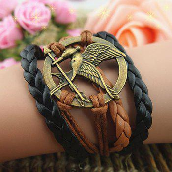 Bird Arrow Round Braided Bracelet