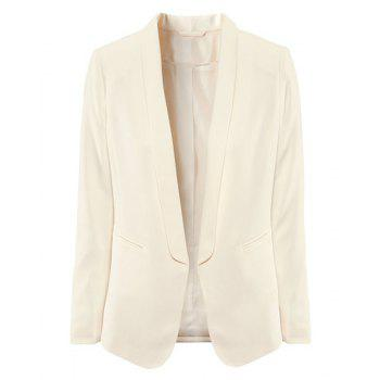 Simple Style Lapel Collar Candy Color Long Sleeves Slimming Women's Blazer