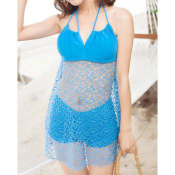Sexy Halterneck Openwork Two-piece Swimsuit For Women