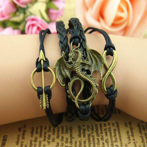 Pterosaur Infinity Arrow Braided Bracelet - AS THE PICTURE