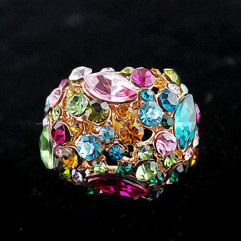Colorful Rhinestone Ring - AS THE PICTURE ONE SIZE