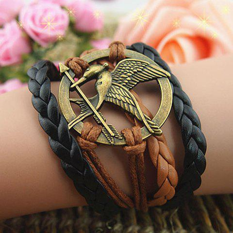 Bird Arrow Round Braided Bracelet - AS THE PICTURE