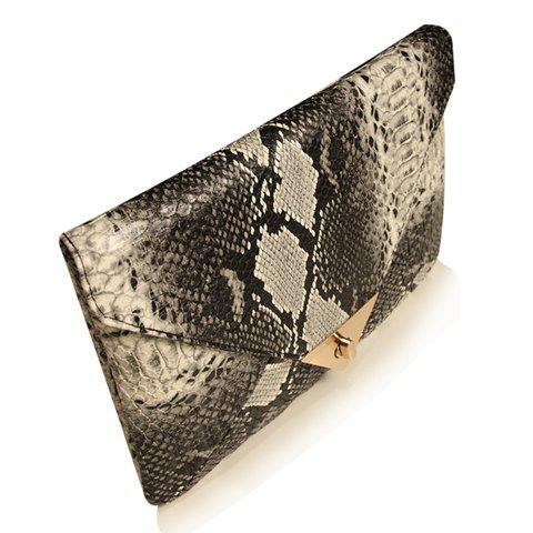 Trendy Envelope and Twist-Lock Design Clutch For Women
