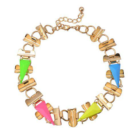 Chic Stylish Triangle Fluorescence Color Necklace For Women - COLOR ASSORTED