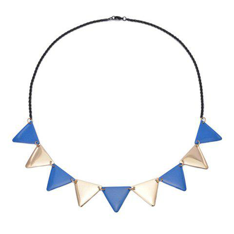 Triangle Alloy Pendant Necklace - COLOR ASSORTED