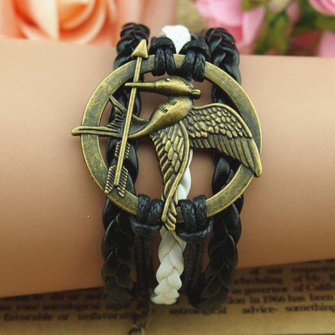 Retro Bird and Arrow Embellished Multilayered Charm Bracelet For Women - AS THE PICTURE
