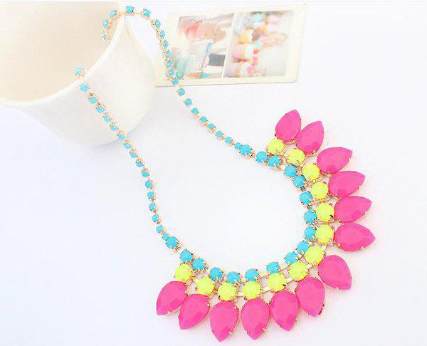 Trendy Fluorescence Color Necklace For Women - COLOR ASSORTED