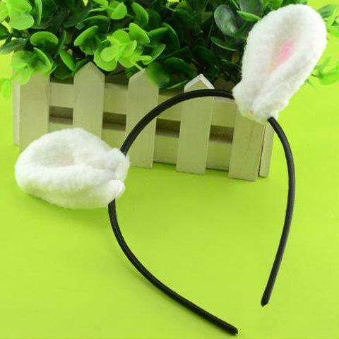 Fashion Fluffy Rabbit Ear Embellished Hairband For Women - AS THE PICTURE