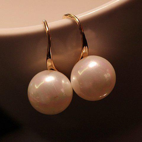 Pair of Chic Faux Pearl Drop Earrings For Women