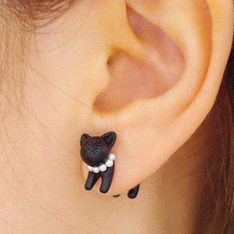 One Piece Beads Cat Earring - COLOR ASSORTED