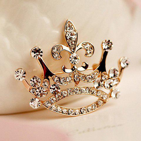 Delicate Luxurious Rhinestone Crown Brooch For Women - AS THE PICTURE