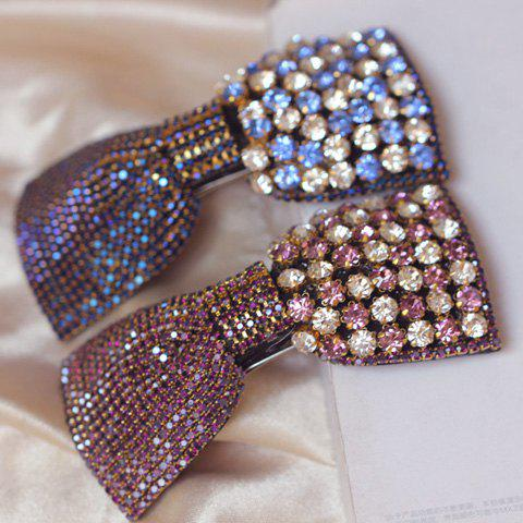 Shinning Polychrome Rhinestone Embellished Hairpin For Women      (ONE PIECE) - COLOR ASSORTED