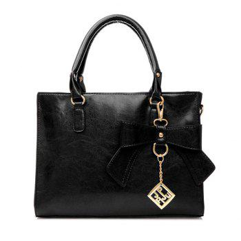 Elegant Bow and Metal Pendant Design Tote Bag For Women