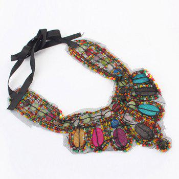 Retro Bohemia Colored Beads Detachable Collar Sweater Chain Necklace For Women - COLORFUL