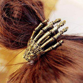 Vintage Skeleton Hand Embellished Elastic Hair Band For Women