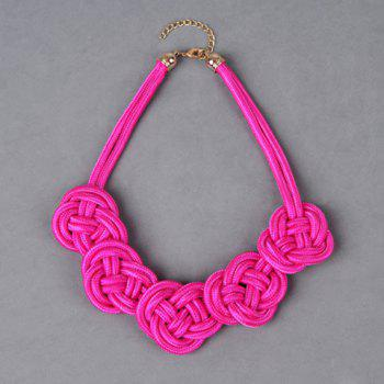Exquisite Vivid Colored Knitted Necklace For Women