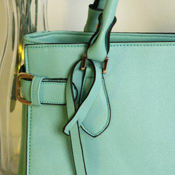 Sweet Pendant and Solid Color Design Tote Bag For Women -  LIGHT GREEN