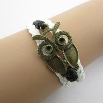 Night Owl Multilayered Faux Leather Braided Bracelet