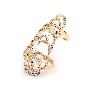 Rhinestone Hollow Out Joint Ring