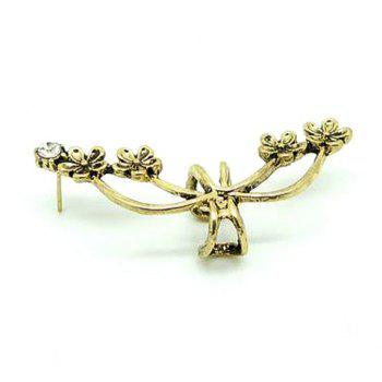 Rhinestone Flower Ear Cuff (Piece) -  COLOR ASSORTED