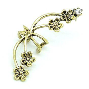 Rhinestone Flower Ear Cuff (Piece) - COLOR ASSORTED COLOR ASSORTED