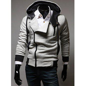 Long Sleeves Street Style Side Zipper Polyester Hoodies