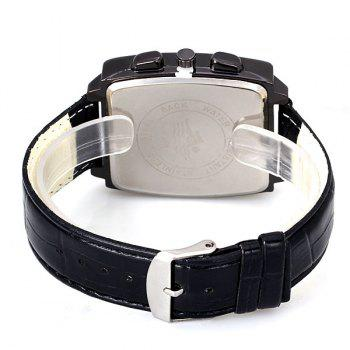 Popular Quartz Watch with Date Analog Indicate Leather Watchband for Men - GRAY