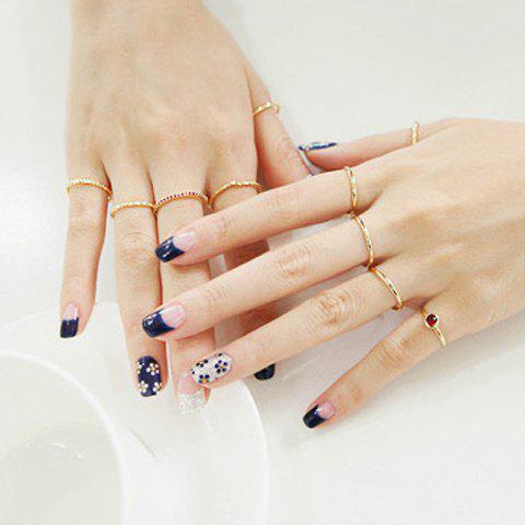 5PCS of Simple Rhinestone Rings - AS THE PICTURE