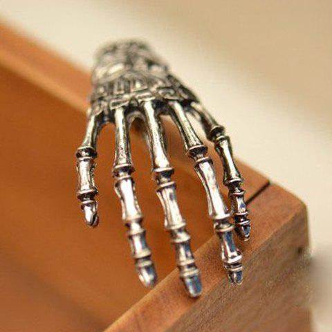 Punk Skeleton Hand Embellished Hairpin For Women - SILVER