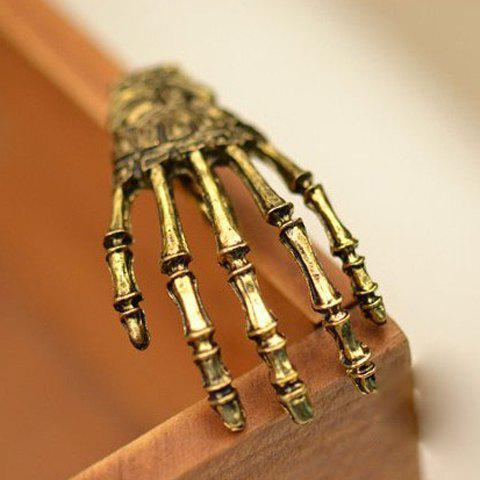Punk Skeleton Hand Embellished Hairpin For Women - COPPER COLOR