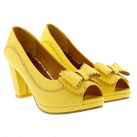 Bowknot Design Peep Toed Shoes For Women