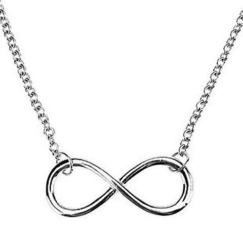 Infinity Alloy Pendant Necklace - SILVER